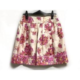 【中古】 チェスティ Chesty スカート サイズ1 S レディース 美品 アイボリー ピンク ブラウン 花柄