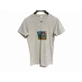 【中古】 ポールスミス PaulSmith 半袖Tシャツ サイズF レディース ライトグレー ブルー マルチ