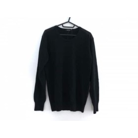 【中古】 バーバリーブラックレーベル Burberry Black Label 長袖セーター サイズ3 L メンズ 黒