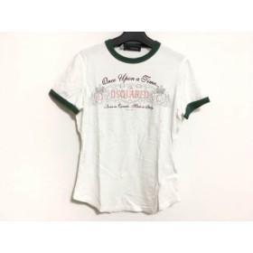 【中古】 ディースクエアード DSQUARED2 半袖Tシャツ サイズS レディース 白 グリーン マルチ