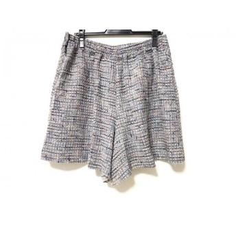 【中古】 ローズティアラ Rose Tiara スカート サイズ46 XL レディース ネイビー 白 マルチ ラメ