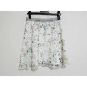 【中古】 アプワイザーリッシェ Apuweiser-riche スカート サイズ2 M レディース 白 グレー マルチ 花柄