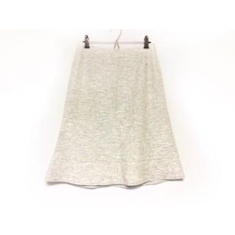 【中古】 トゥービーシック スカート サイズ40 M レディース 美品 アイボリー グレー ツイード