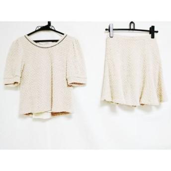 【中古】 レストローズ スカートセットアップ サイズ2 M レディース ベージュ ダークブラウン ニット
