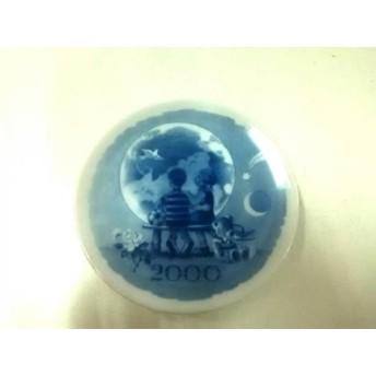 【中古】 ロイヤルコペンハーゲン ROYAL COPENHAGEN プレート 新品同様 白 ブルー 陶器