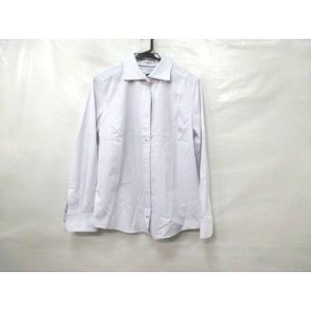 【中古】 ノーブランド 長袖シャツ サイズ44 L メンズ 白 パープル