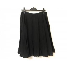 【中古】 セオリー theory スカート サイズ2 S レディース 黒 シースルー