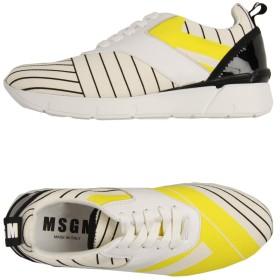 《期間限定 セール開催中》MSGM レディース スニーカー&テニスシューズ(ローカット) イエロー 36 指定外繊維 / なめし革