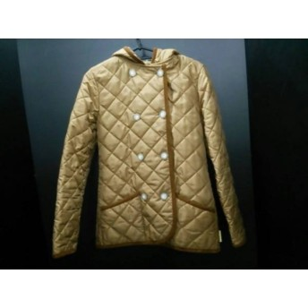 【中古】 トラディショナルウェザーウェア コート サイズ34 M レディース ブラウン 冬物/キルティング
