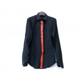 【中古】 リチウムオム LITHIUMHOMME 長袖シャツ サイズ44 L メンズ 黒 レッド