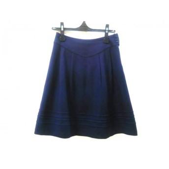 【中古】 エフデ ef-de スカート サイズ9 M レディース ネイビー