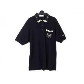 【中古】 アダバット Adabat 半袖ポロシャツ メンズ 黒 ベージュ ブルー