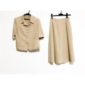 【中古】 レリアン Leilian スカートスーツ サイズ9 M レディース ベージュ 肩パッド