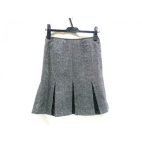 【中古】 レストローズ L'EST ROSE スカート サイズ2 M レディース グレー ブラック