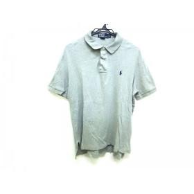 【中古】 ポロラルフローレン POLObyRalphLauren 半袖ポロシャツ サイズS メンズ グレー