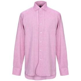 《期間限定セール開催中!》DOPPIAA メンズ シャツ モーブ 40 コットン 86% / 麻 14%