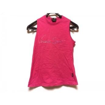 【中古】 ヴェルサーチスポーツ VERSACE SPORT ノースリーブTシャツ サイズXS レディース ピンク