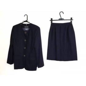 【中古】 ミントン MINTON スカートスーツ サイズM レディース ネイビー