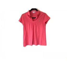 【中古】 ラコステ Lacoste 半袖ポロシャツ サイズ40 M レディース レッド