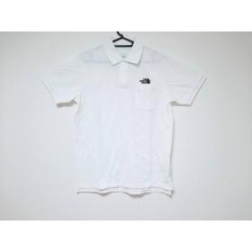 【中古】 ノースフェイス THE NORTH FACE 半袖ポロシャツ サイズM メンズ 美品 白 黒