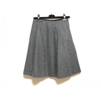 【中古】 マッキントッシュフィロソフィー スカート サイズ36 M レディース ダークグレー 黒