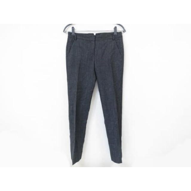 【中古】 セオリー theory パンツ サイズ0 XS レディース 美品 ダークグレー グレー