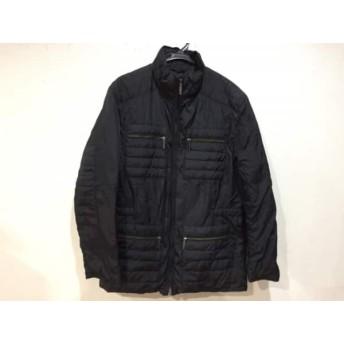 【中古】 アッド・エーディーディー add ダウンコート サイズ50 XL レディース 黒 冬物/ジップアップ