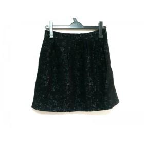 【中古】 オープニングセレモニー OPENING CEREMONY ミニスカート サイズM レディース 黒 ダークグレー