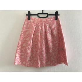 【中古】 ブルーガールブルマリン BLUGiRL BLUMARINE スカート レディース 美品 ベージュ ピンク 刺繍