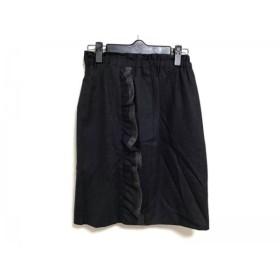 【中古】 カオン kaon スカート サイズ36 S レディース ダークグレー フリル/ラメ