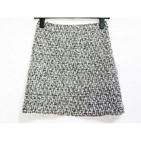 【中古】 エムプルミエ M-PREMIER スカート サイズ34 S レディース 美品 黒 アイボリー ラメ