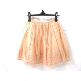 【中古】 ノーブランド スカート サイズ36 S レディース ピンクベージュ