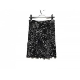 【中古】 アニエスベー agnes b スカート サイズ2 M レディース 黒 白