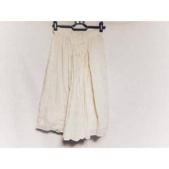 【中古】 エルザエストロジー elsa esturgie スカート サイズ36 S レディース アイボリー
