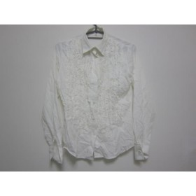 【中古】 ナラカミーチェ NARACAMICIE 長袖シャツブラウス サイズ0 XS レディース 白 綿