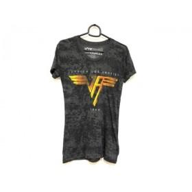 【中古】 ジョイリッチ JOYRICH 半袖Tシャツ サイズS レディース ダークグレー 黒 イエロー