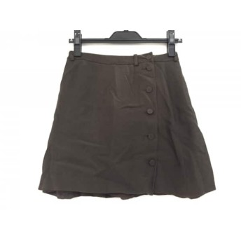 【中古】 エンポリオアルマーニ EMPORIOARMANI ミニスカート サイズ38 S レディース ダークブラウン