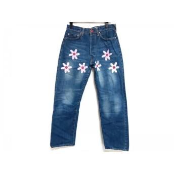 【中古】 キューン CUNE ジーンズ サイズ30 メンズ ブルー ピンク アイボリー