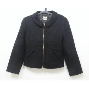 【中古】 アニエスベー agnes b ジャケット サイズ1 S レディース 黒 ジップアップ/冬物