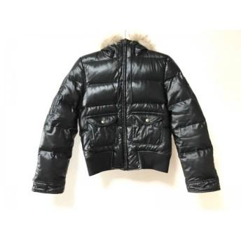 【中古】 バーバリーブルーレーベル ダウンジャケット サイズ40 M レディース 黒 ライトブラウン