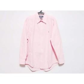 【中古】 ラルフローレン RalphLauren 長袖シャツ サイズ41 メンズ ピンク ボタンダウン