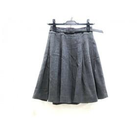 【中古】 ルゥデルゥ RewdeRew スカート サイズ36 S レディース グレイ