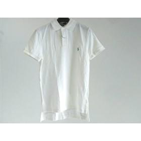 【中古】 ポロラルフローレン POLObyRalphLauren 半袖ポロシャツ サイズS メンズ アイボリー CUSTOM FIT