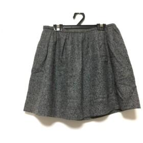 【中古】 セオリー theory ミニスカート サイズ0 XS レディース 美品 ダークグレー 黒