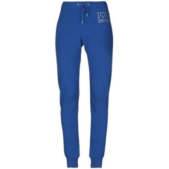 《セール開催中》LOVE MOSCHINO レディース パンツ ブルー 40 94% コットン 6% ポリウレタン