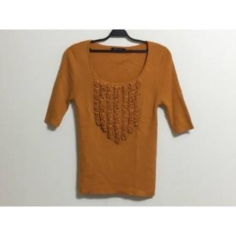 【中古】 ニジュウサンク 23区 半袖セーター サイズ38 M レディース オレンジ