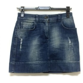 【中古】 ドルチェアンドガッバーナ ミニスカート サイズ38 S レディース ブルー ダメージ加工/デニム