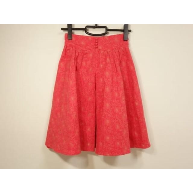【中古】 リリーブラウン Lily Brown スカート サイズO レディース ピンク 刺繍/花柄