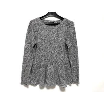 【中古】 ニジュウサンク 23区 長袖セーター サイズ38 M レディース 白 黒
