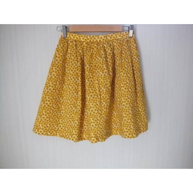 【中古】 アイボリーコート スカート サイズ36 S レディース イエロー ライトブラウン マルチ 花柄